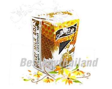 สมุนไพรบำรุงผิวพรรณสดใส - สบู่น้ำผึ้งนมสด
