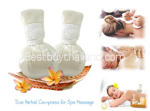 ลูกประคบสมุนไพร สมุนไพรไทยลูกประคบ Thai Herbal Compress, Thai Herbal Ball for Body Spa Massage